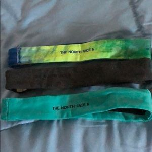 Set of 3 North Face headbands